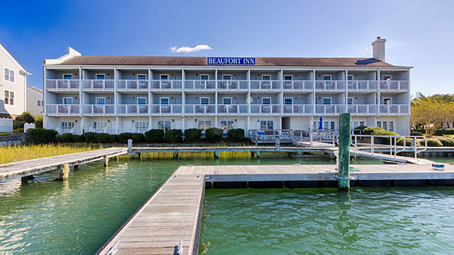 Beaufort Inn in Beaufort, North Carolina with water view